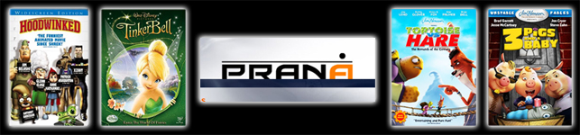 Prana Studios, Mumbai, India - Nuke Training for Stereo Visual Effects - Weinstein Company's Hoodwinked, Walt Disney's Tinkerbell, Prana logo, Jim Henson's Tortoise VS. Hare and 3 Pigs and a Baby