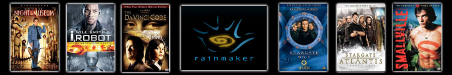 Rainmaker Entertainment, Vancouver BC - Shake Training - Night at the Museum, i Robot, The DaVinci Code, Stargate SG-1, Stargate Atlantis and Smallville